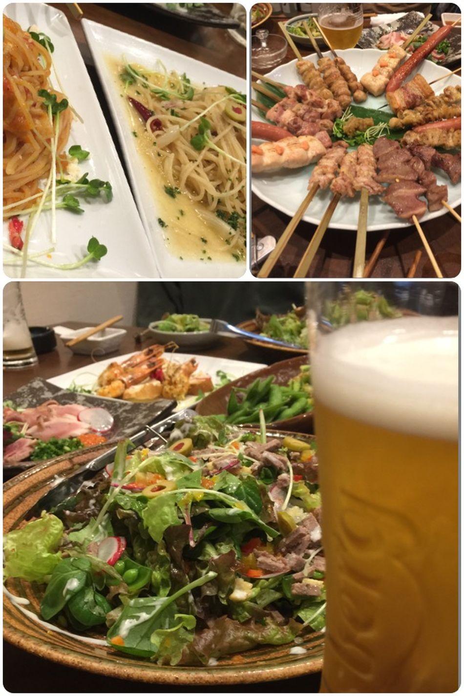 昨夜は 忘年会 でした♪(*^^)o∀*∀o(^^*)♪忘年会も残すところ…あとふたつ♪ 生ビール やきとり Bier