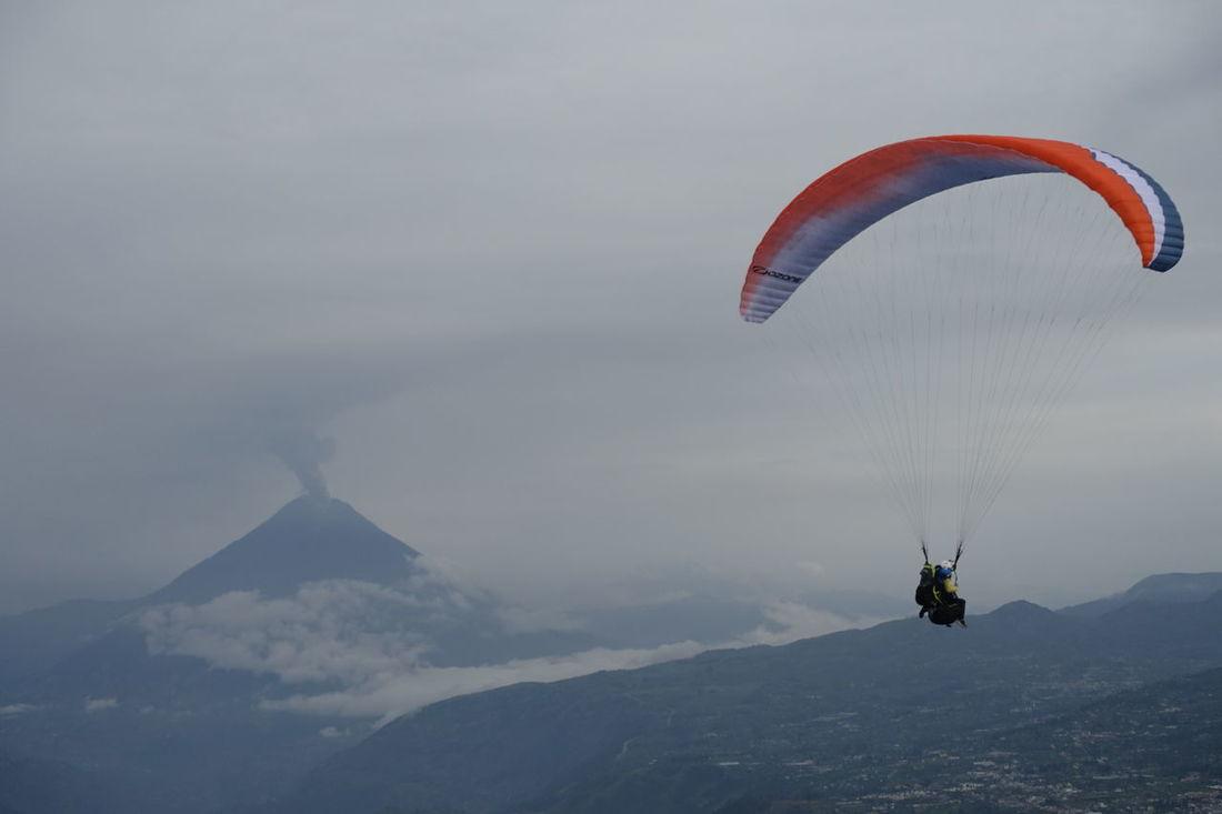 Paragliding in Ecuador near Tungurawa volcano. Clouds Clouds And Sky Cloudscape Flight Fly Flying Freedom Mountain Paraglide Paragliding Tungurahua Tungurahua-Ecuador Tungurahua Volcano Volcano Mountains And Sky Volcano Eruption Raw
