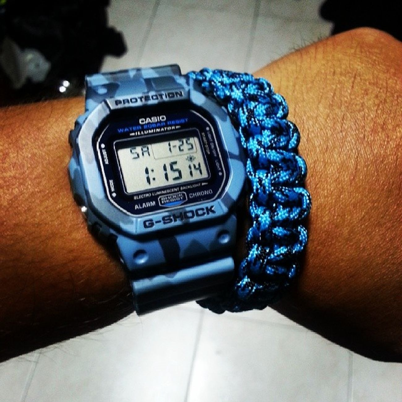 Matched!! Gshock Dw5600 with Paracord Bracelet !!! Loving it!