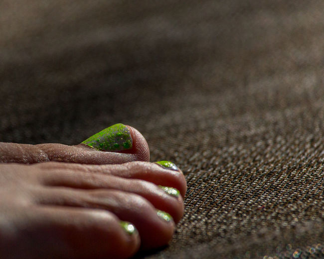 Close-up Day Nailpolish Outdoors Person Poolside Selective Focus Textures And Surfaces Toes