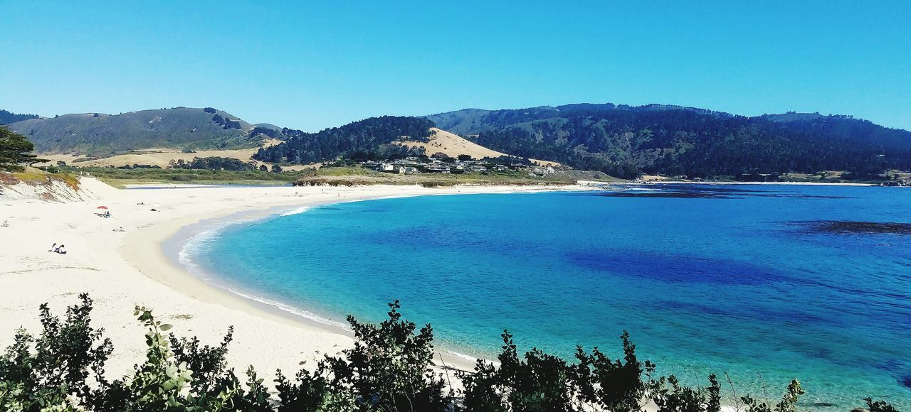 Beautiful beach in Carmel-by-the-sea. Beautiful Nature Sandy Beach Sand & Sea Calm Water California California Love Calmness Serenity MyPhotography Myhappyplace My Perspective Livelaughlove♡