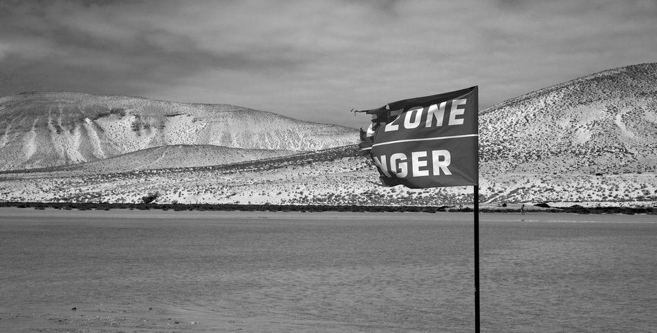 Blackandwhite Blackandwhite Photography Coast Danger Dunes Flag Fuerteventura Hi Nature Panic Sand Dunes Scared Scary SPAIN Stress Surfing
