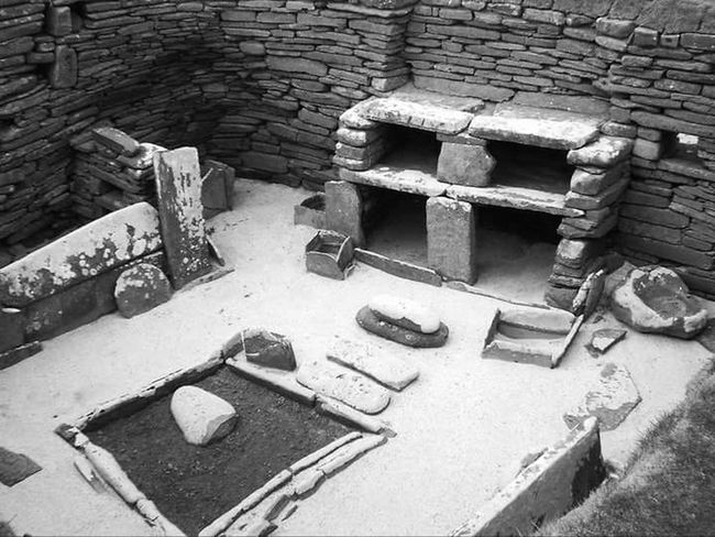 Neolithic Orkney Neolithic World Heritage Site Orkney Orkneyislands Orkneyisles Skara Brae Stone Age Stone Age Village Stone Furniture House 5 Skara Brae Historic Historic Building Historic Scotland Lifeasiseeit Johnnelson