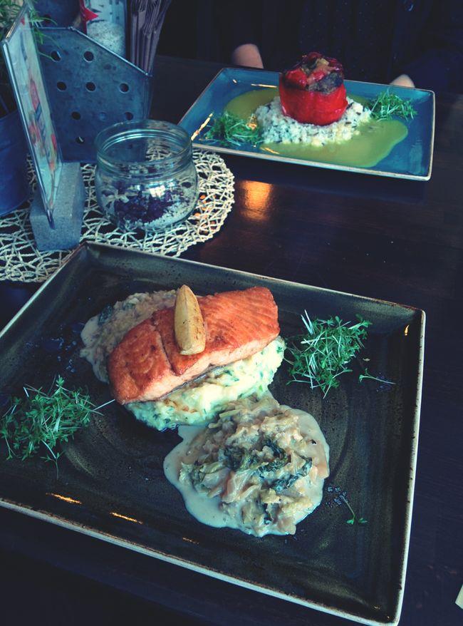 Lachs und Paprika