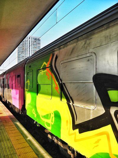 Rimini Station Rail Transportation Day Outdoors