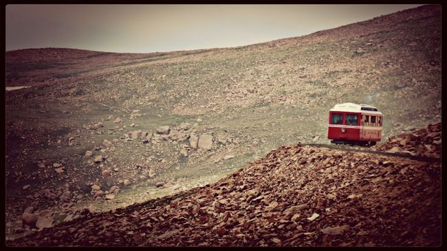 Cog Train coning down Pike's Peak Pikes Peak Train Rocky Mountains EyeEm Best Shots - Landscape