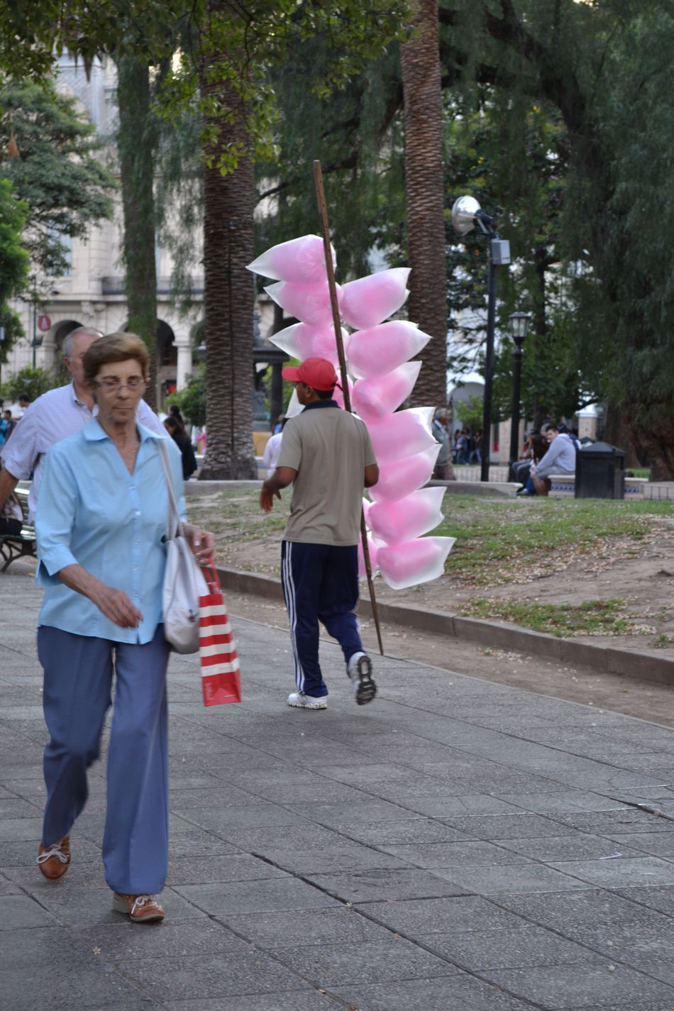 The Street Photographer - 2016 EyeEm Awards Street Photography Streetphotography Streetphoto Street Situation Situations Cottoncandyman Cotton Candy Man Man Selling On The Streets Salta, Argentina