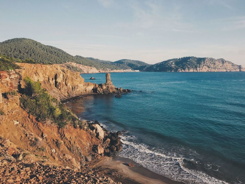 Water Sea Beauty In Nature Mountain Scenics Nature Sky Coastline Outdoors Mountain Range Tranquility Tranquil Scene Day No People Bay Reservoir Seashore Scenic Lookout Mediterranean Sea Seascape Seaside Ibiza Morning Light Clear Water Vacations