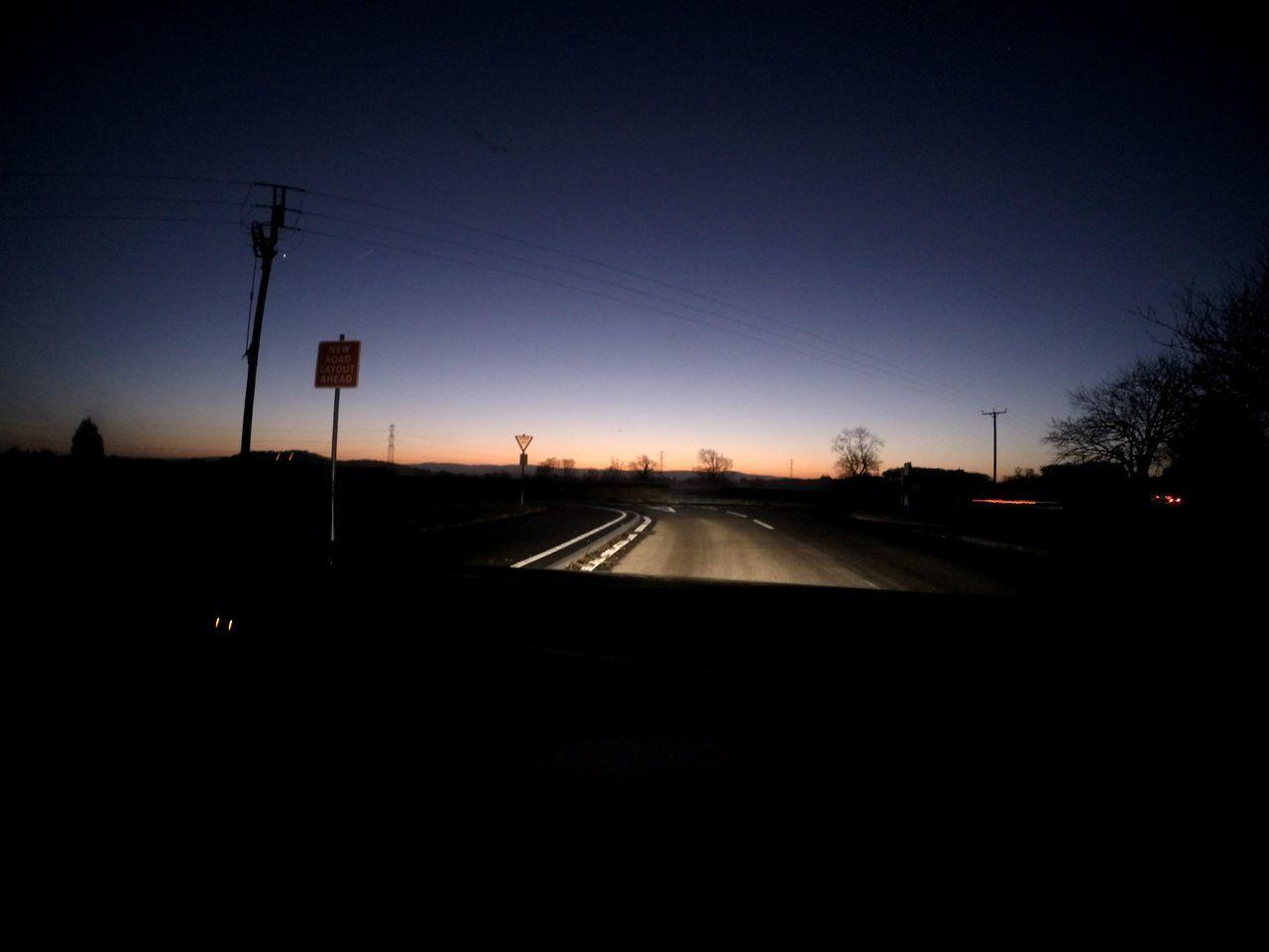 GoPro Hero3+ Night Sunset Sky Road No People Illuminated Transportation NewRoad Bridgewater
