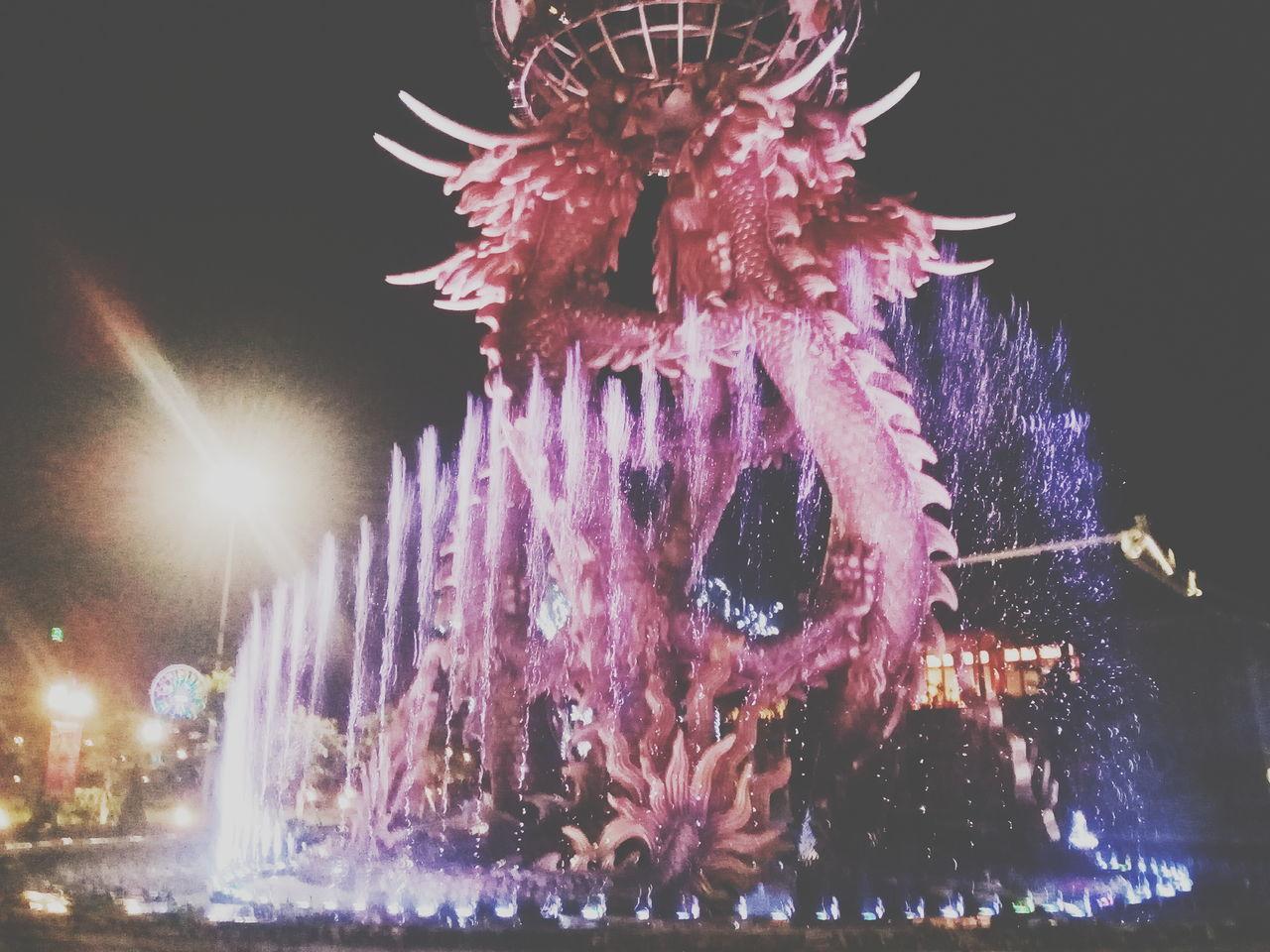 D R A G O N F A L L I N G. Neon Neonwood Neonlife Neonlight Life In Colors Night Celebration Illuminated Outdoors Close-up Eyeemphoto POTD Photooftheday Pictureoftheday 颜色 Dragon Dragonpark HaLongpark Vietnam EyeemPhotos Neon Life
