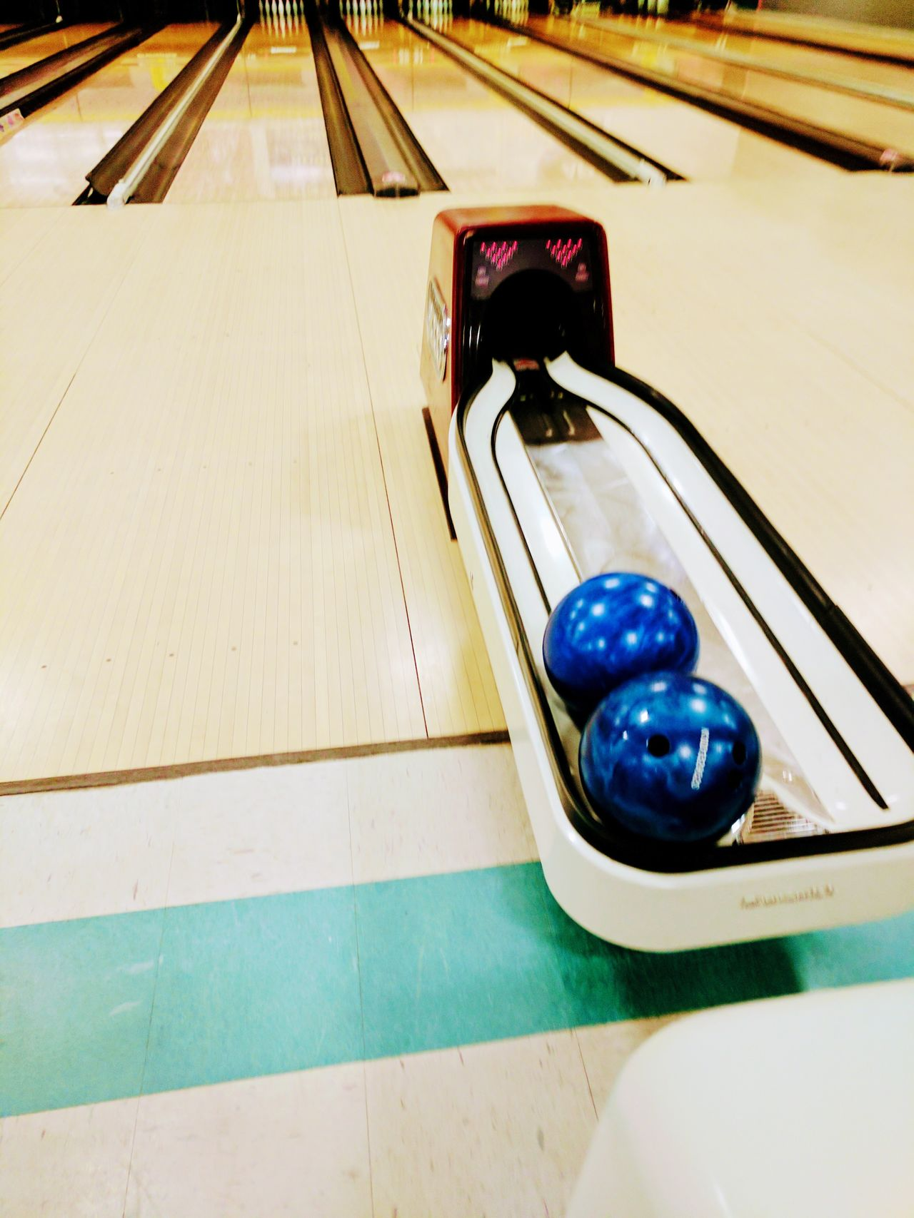 No People Indoors  Bowling Alley Bowing Balls blue