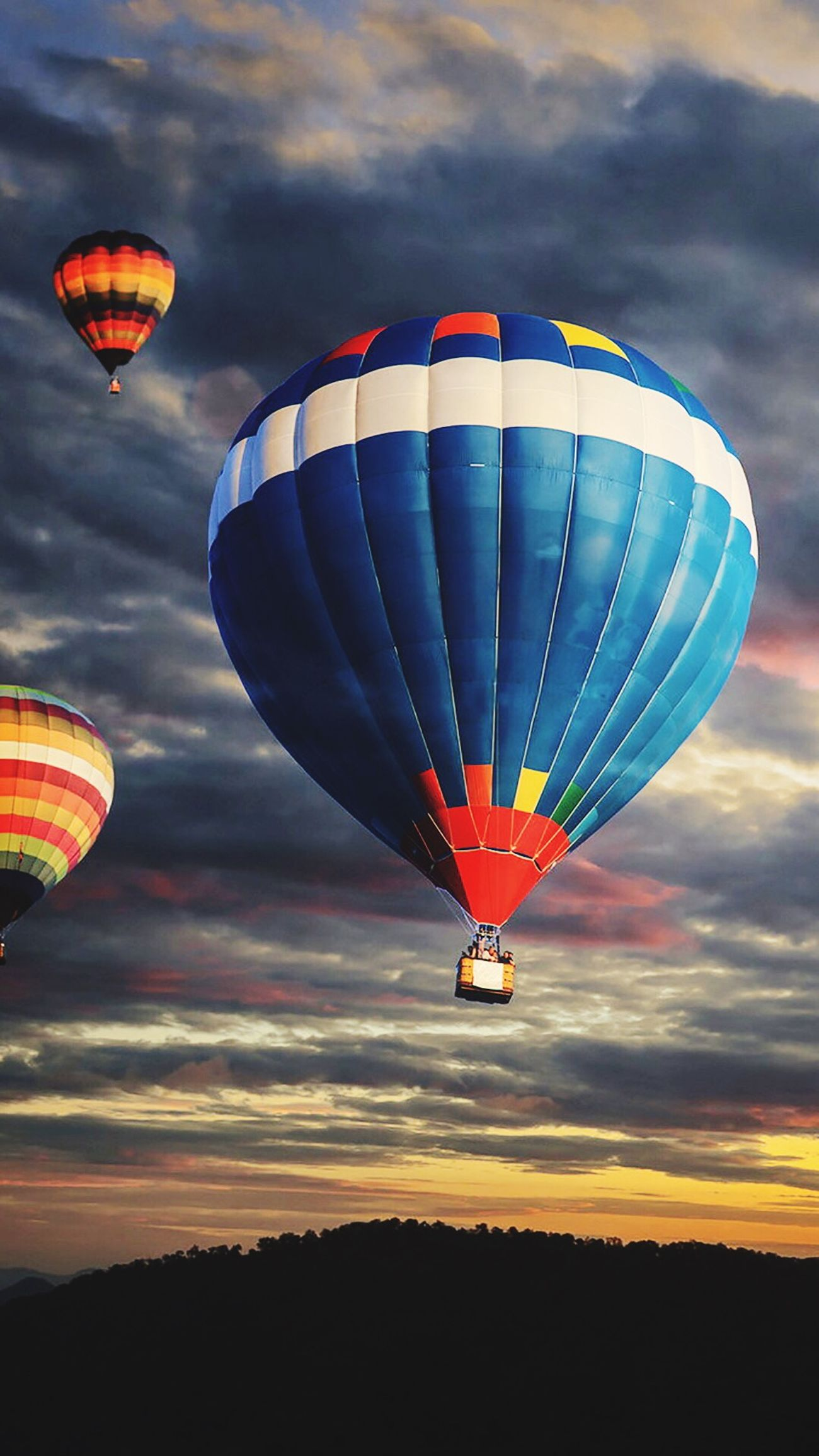 Sky Sunset Taking Photos Hot-air Balloon Beautiful Day