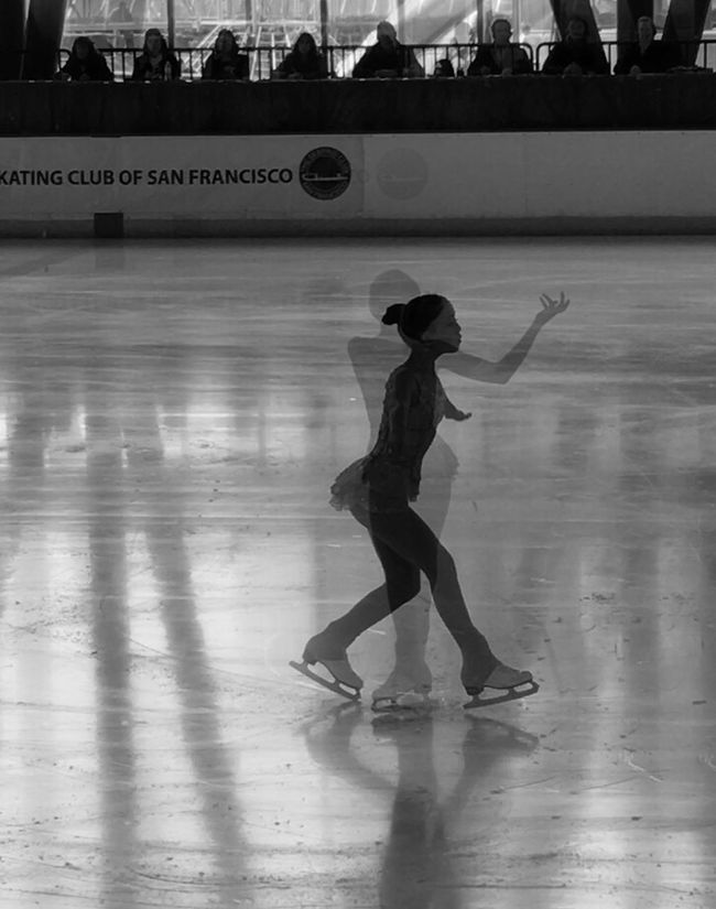 Figure Skating Chasing Ice Left My Heart In SF Black And White