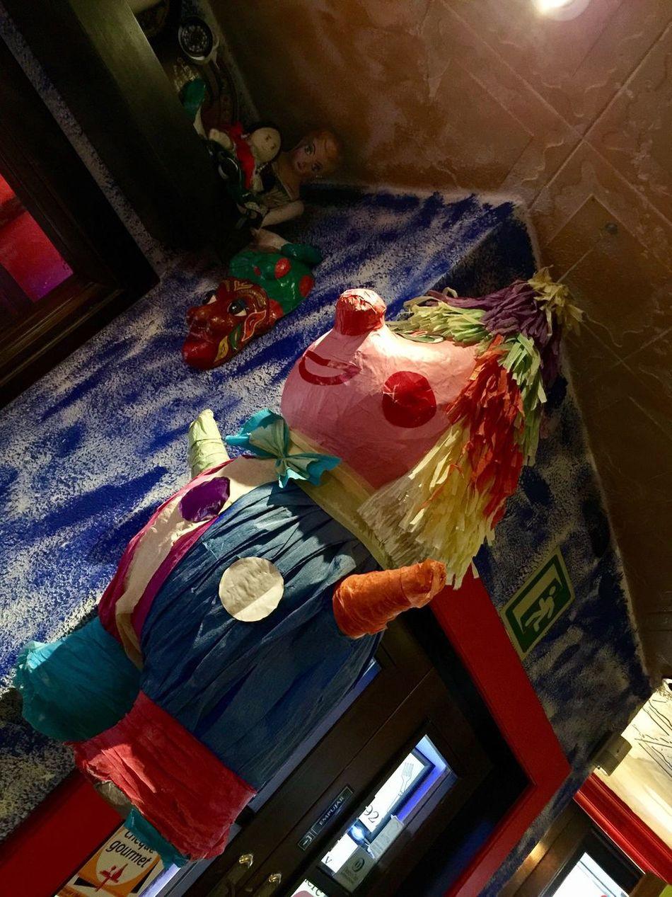 Multi Colored Indoors  Tex-Mex Restaurant Tex-Mex Decoration Indoors  Piñata Low Angle View Lifestyles