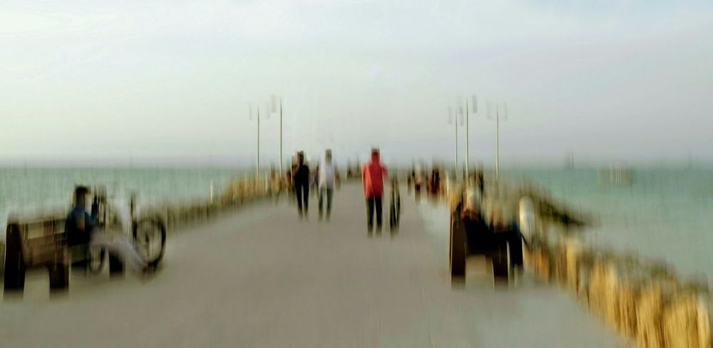 the pier. Shapes , Lines , Forms & Composition Art Is Everywhere Abstract Outdoors Kish Island Scenics Seascape Bicyclist By The Water Seaside Impressionism Impressionism In Photography ICM Photo Intentional Camera Movement Icm Pier From My Point Of View Break The Mold Photo Impressionism Kish Breathing Space Your Ticket To Europe The Week On EyeEm Lost In The Landscape Rethink Things EyeEm Ready