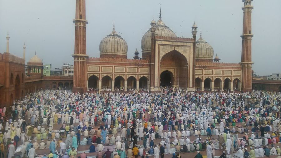 Crowd Cultures Festival India Indian Jama Masjid Mosque Muslims Newdelhi Praying Travel