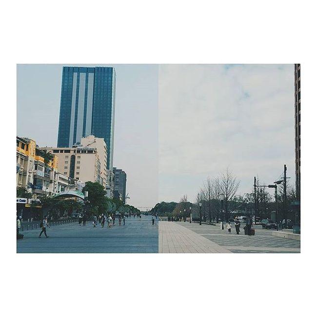 東京駅前の行幸通りがなんとなくグエンフエに似ててなつかしくなった😭 ジャパリナ 観光客に混じって写真を撮る たか散歩 行幸通り 東京 Gyōkō Dōri, the walking street in front of tokyo station reminds me of phố đi bộ nguyễn huệ... Imissvietnam Tokyo Saigon Japan Vietnam