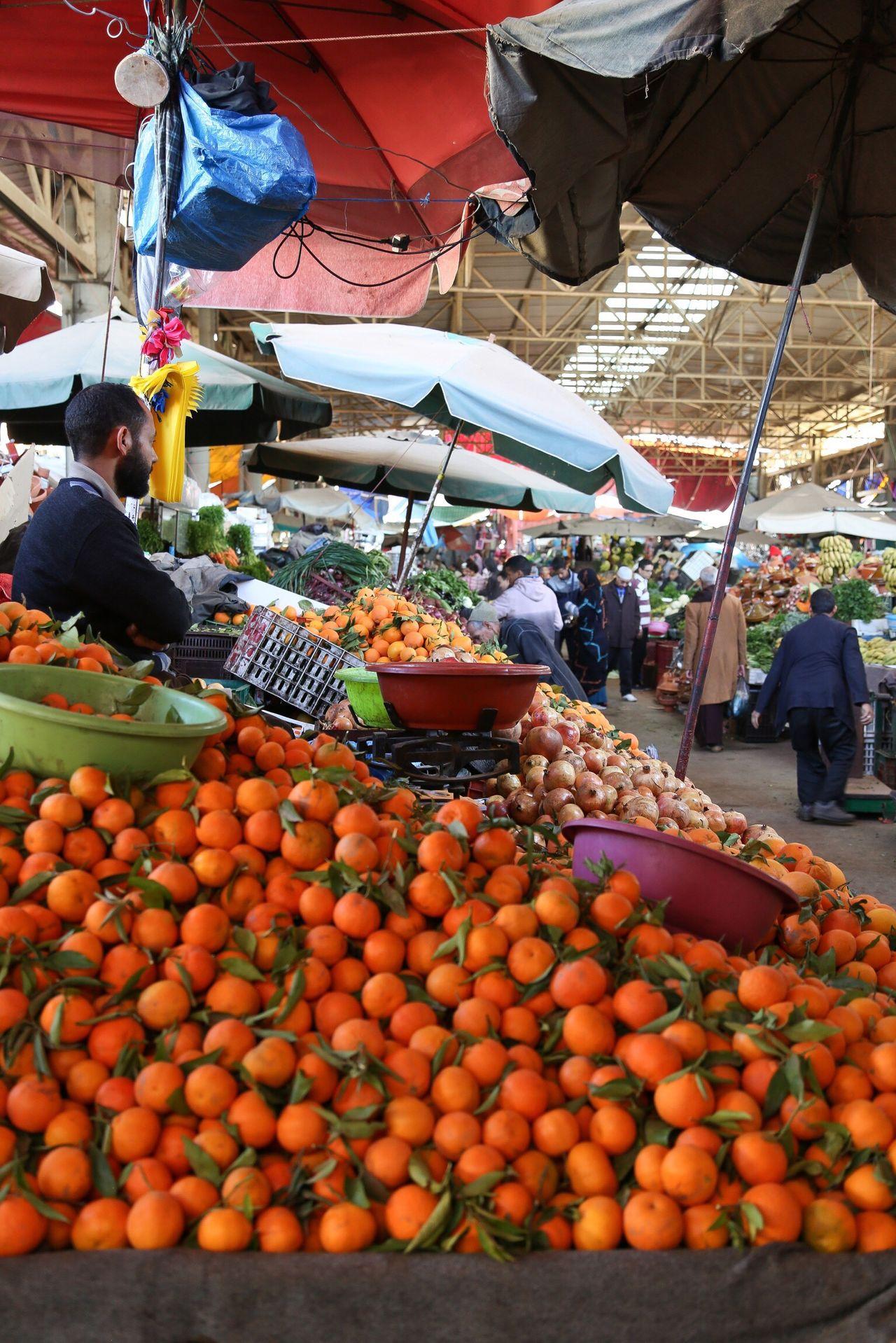 Market Agadir Agadir Morocco Mandarin Tangerine Colors Orange Color Man Beautiful Travel Traveling