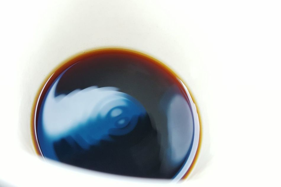 Drink Close-up Liquid Coffee Vibration Ripples Inside A Coffee Cup Perspective Sound Vibrating Liquid Waves Motion