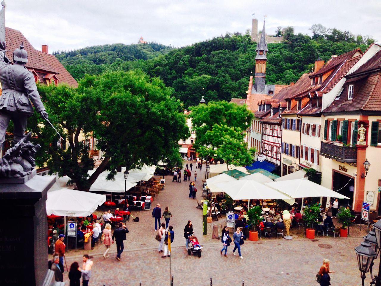 Point of view old city Altstadtleben Weinheim