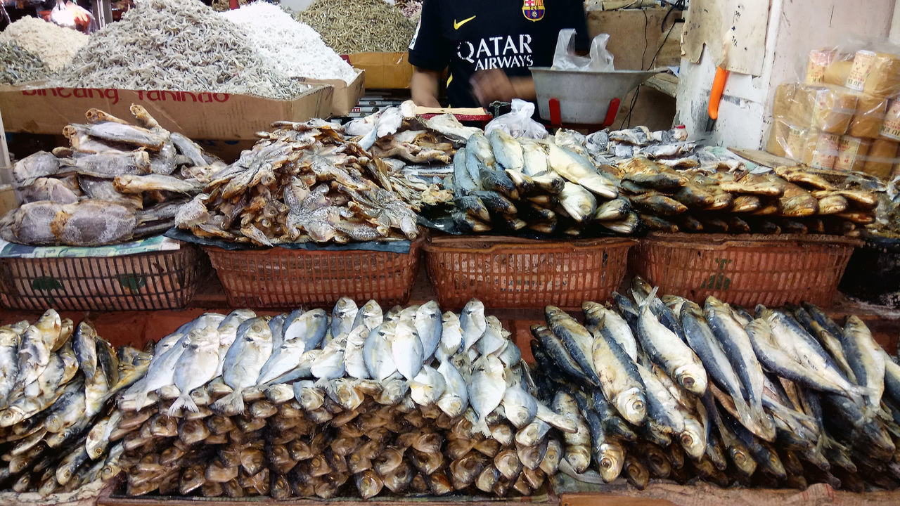 salted fish Abundance Arrangement Basket Close-up Day Food Food And Drink For Sale Freshness Healthy Eating Ikanasin Large Group Of Objects Market Market Stall No People Outdoors Price Tag Retail  Seafood Streetphotography Variation