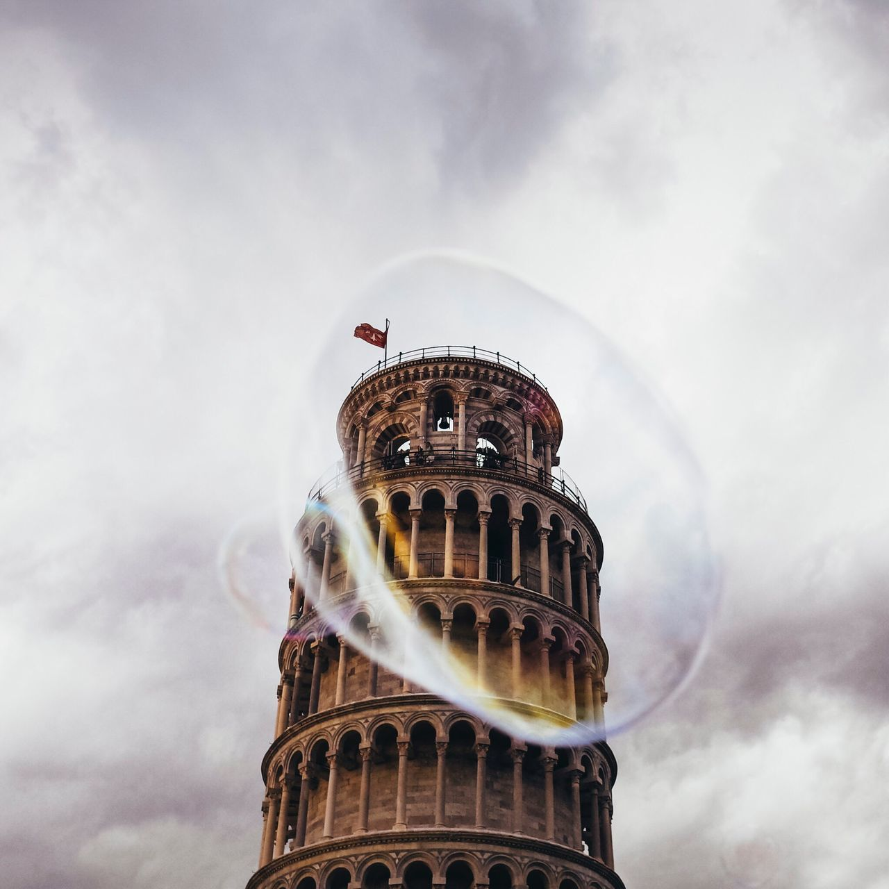 That famous tower in Pisa Italy (Extent of tilt not visible from this angle.) Travel Travel Photography Travel Destinations Architecture Building Exterior Building Structure Low Angle View No People