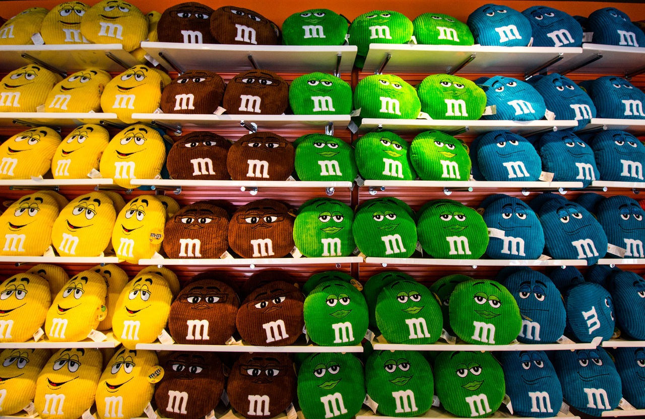Color Colors EyeEm Gallery EyeEmBestPics Funny Faces In A Row Layers M&m M&m's M&m's World Multi Colored Multicolor Multicolors  New York New York City New York ❤ NYC NYC Photography Pillow Pillows Repetition Rows Of Things USAtrip Pattern Pattern, Texture, Shape And Form