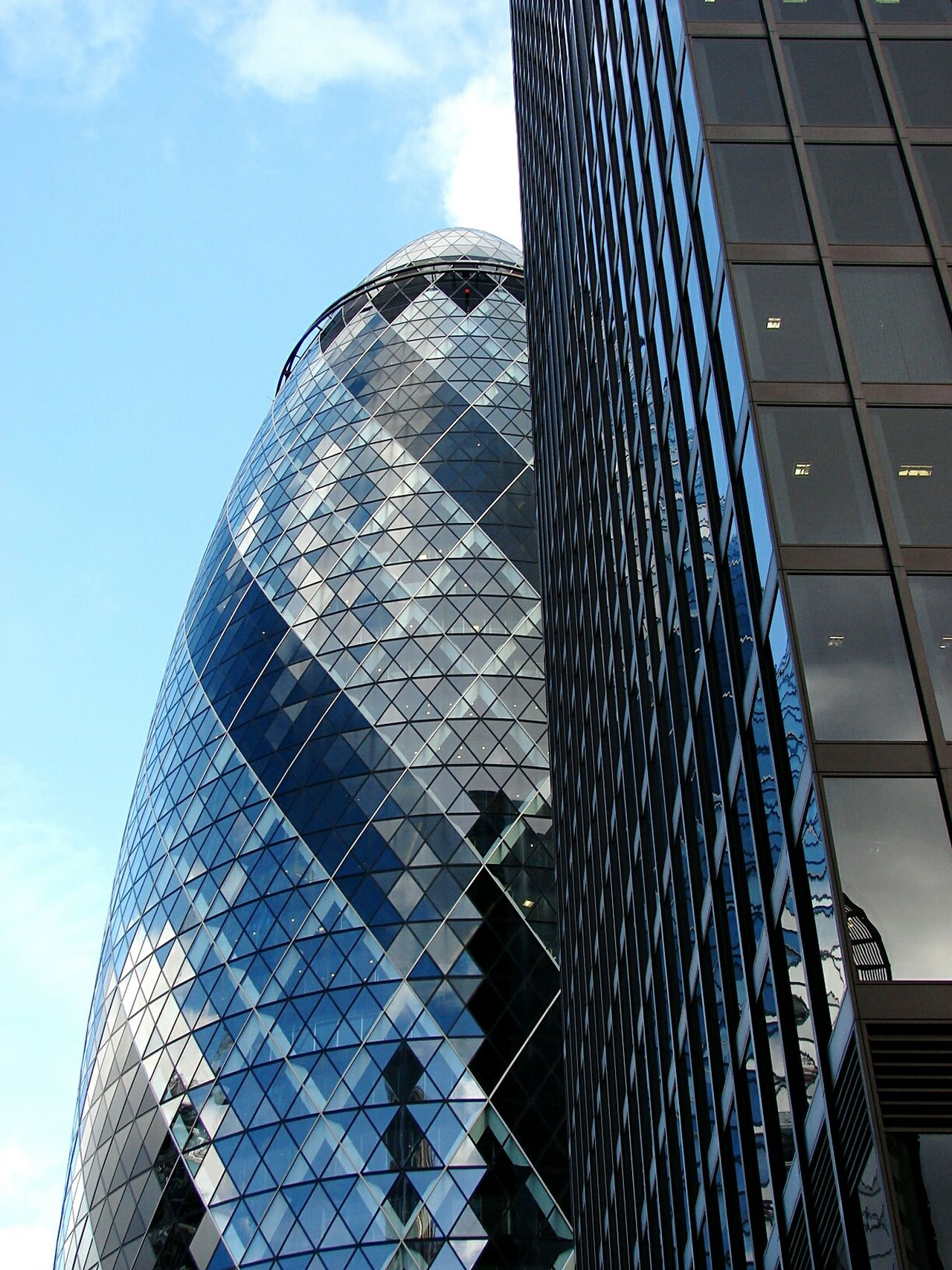 Gherkin Tower Stained Glass Window Bank London Modern Architecture