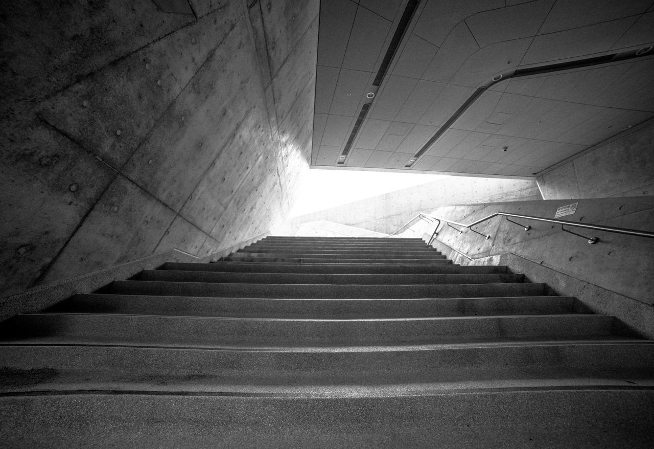 Architectural Column Architectural Detail Architectural Feature Architecture Architecture Architecture_collection Architecturelovers Black Black & White Blackandwhite Blackandwhite Photography Built Structure Hong Kong HongKong Indoors  Low Angle View Polyu Staircase Stairs Steps Steps And Staircases The Way Forward Zaha Hadid ZahaHadid