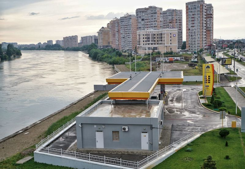 Architecture City Built Structure Skyscraper Building Exterior Cityscape City Life Urban Skyline Outdoors Modern No People Sky Water River River View Kuban