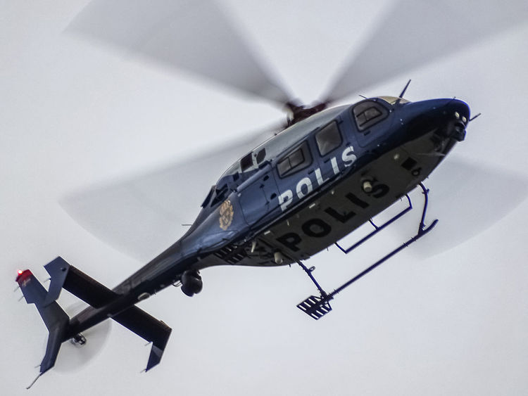 Chased by the police! Chase Cops Crime Helicopter In The Air In The Sky Police Police Helicopter Polis Polishelikopter Swedish