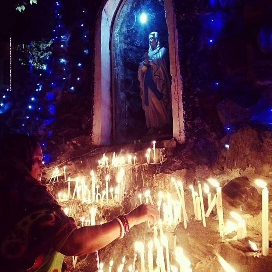 Pray Mother MotherMarry Candles Lights Hope Believe Faith Prayers