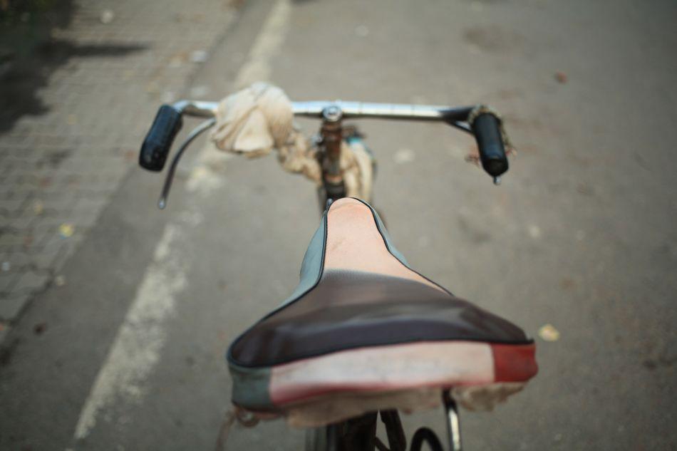 No People Outdoors Day Bicycle India Tuk Tuk Rikshaw Sattle Seat