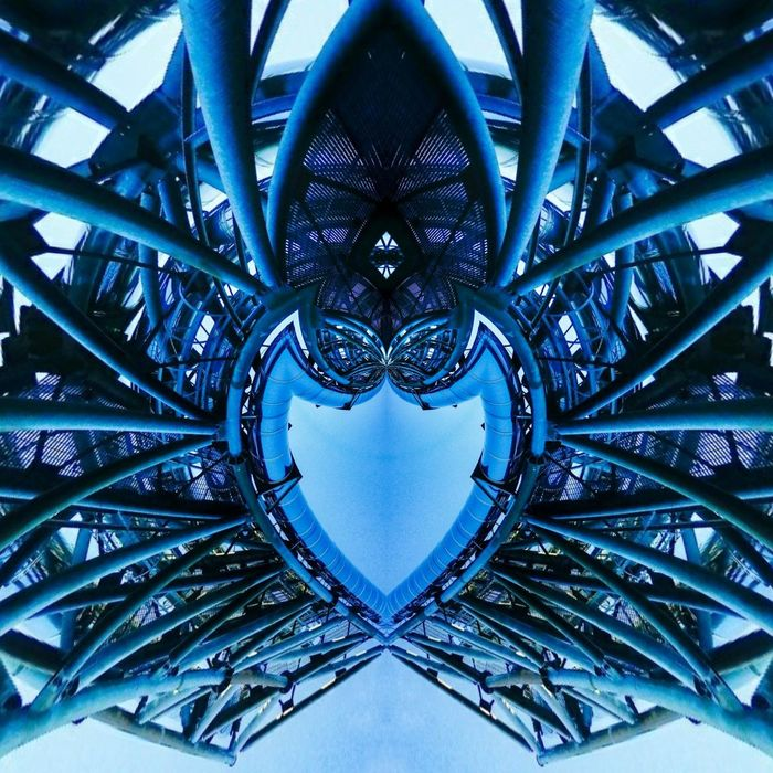 Every Body Has A Heart Metal Bending Playing With Symmetric Image Assemblies Curved Realiity Unbelievable Views