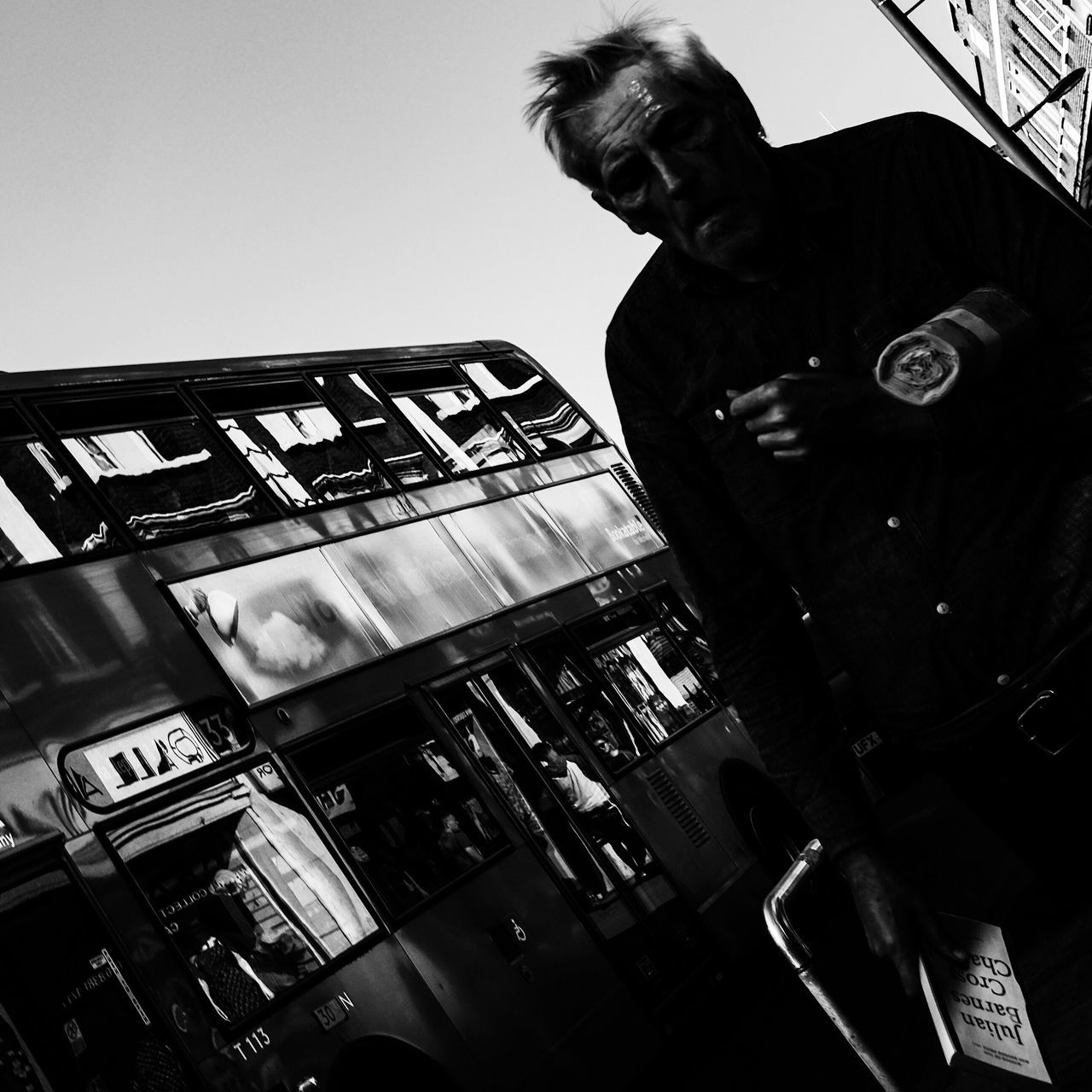 ~ reflective ~ Streetphotography Blackandwhite Shadow London Londonbus