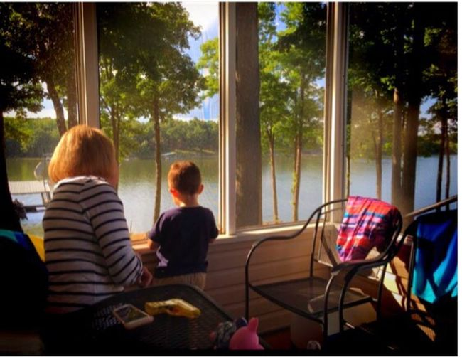 The Great Outdoors - 2017 EyeEm Awards Childhood Boyhood Summer Vacation Lake Porch Life