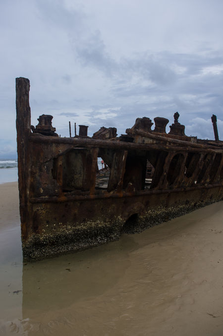 Abandoned Beach Cloud - Sky Day Maheno Shipwreck No People Obsolete Outdoors Sand Shipwreck Sky Water