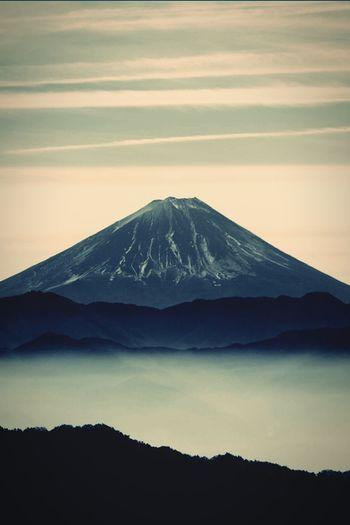 Mt. Fuji Mountain Landscape Scenics Mountain Peak Majestic Sky Monochrome Photography Japan Cloud Film Photography