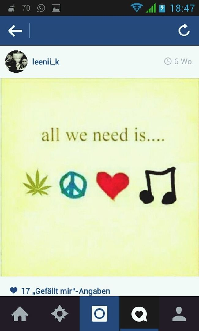 All You Need Is... Weed Music Love♥ and peace *-*