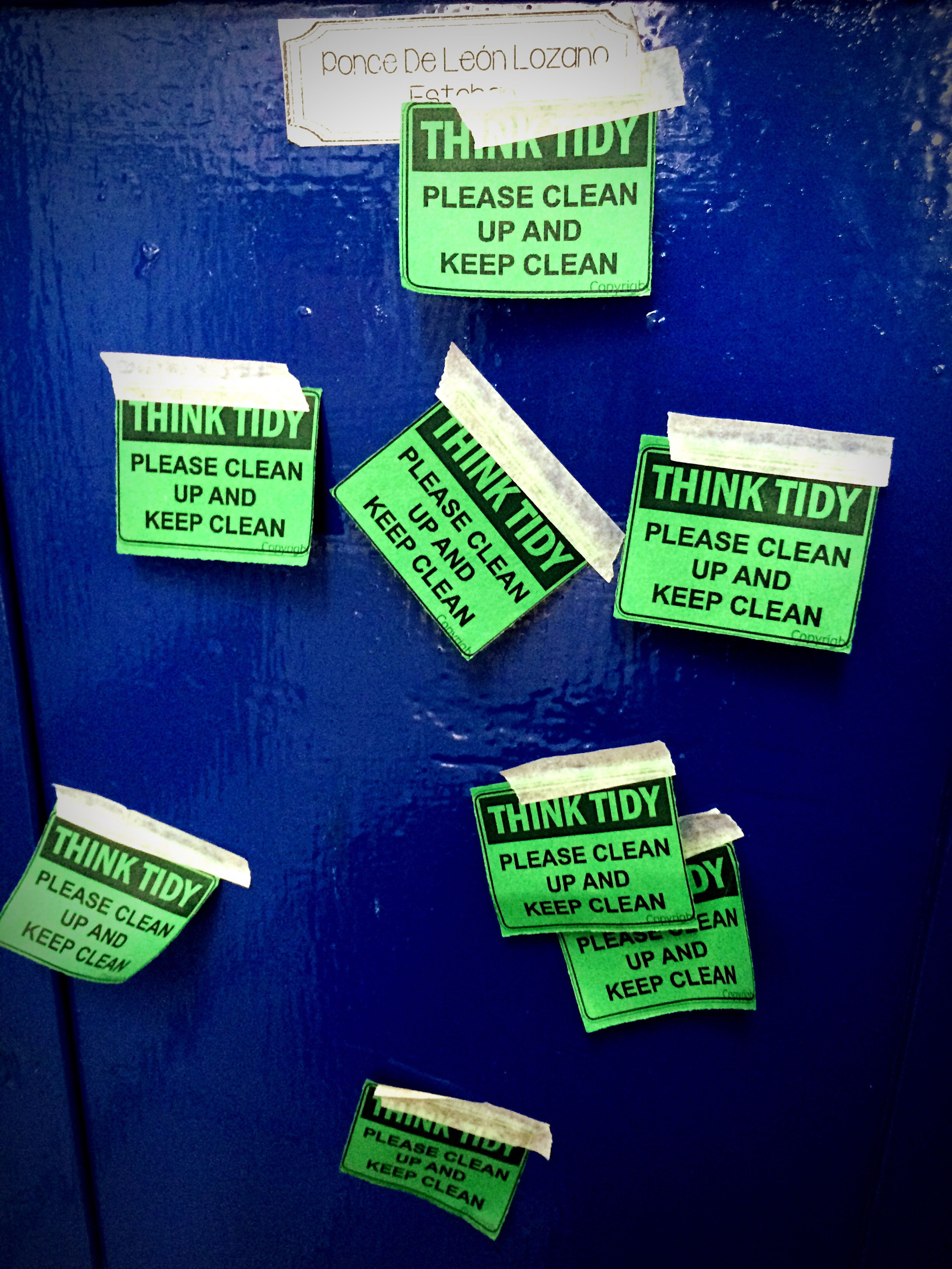 Clean Up Your Locker The Papers Didn't Work