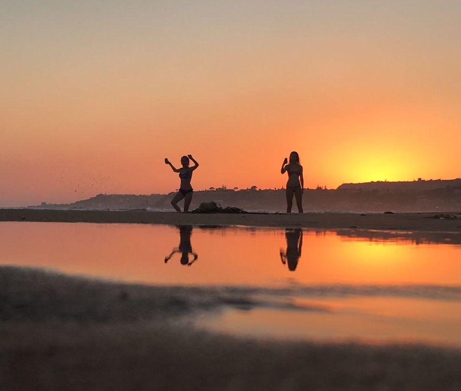 Salutation To The Sun Beachphotography Sunset Reflection Sicily IPhone Photography August Showcase Eyeemphoto