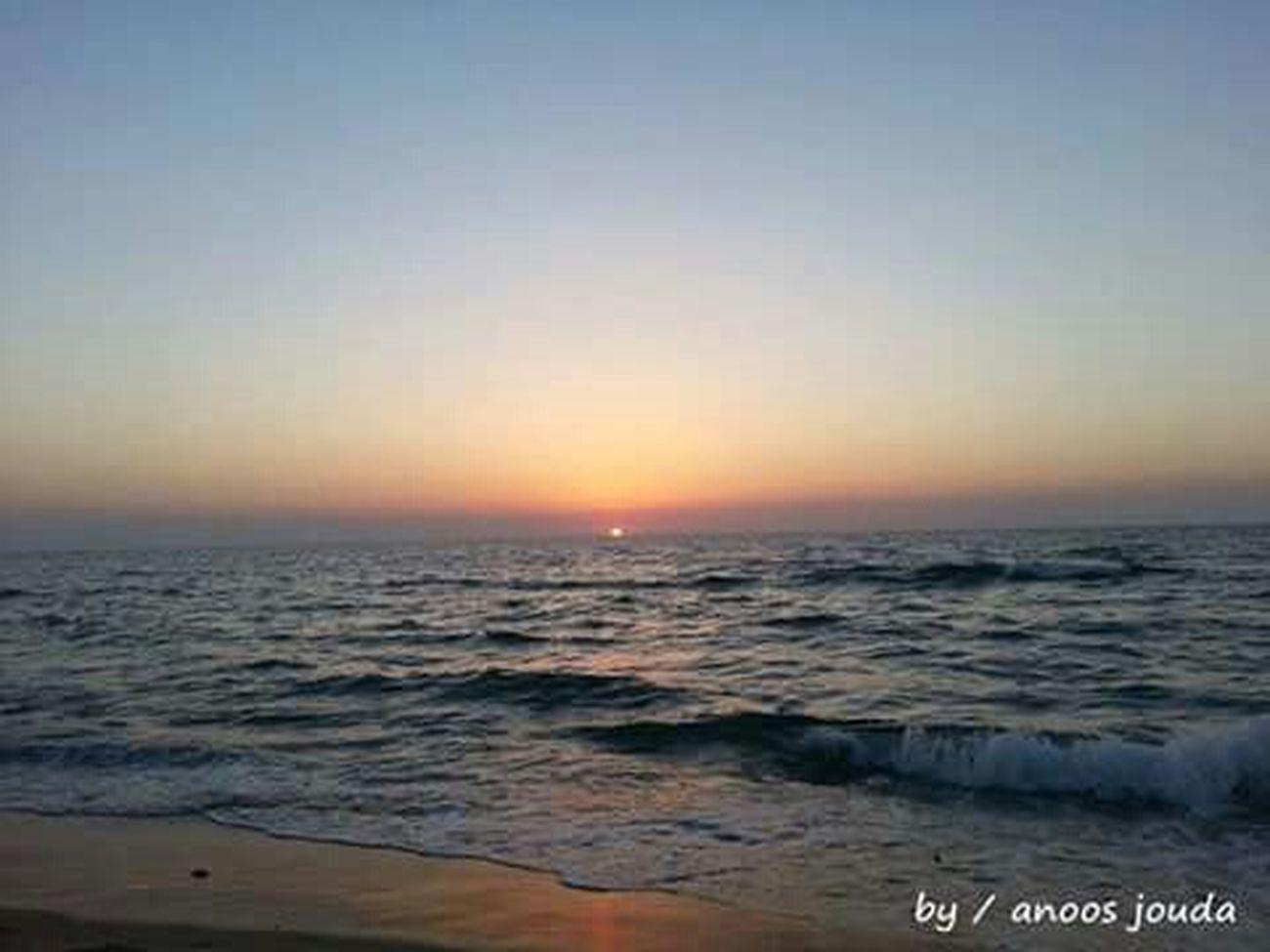 لخظة غروب شمس ☀ في صيدا