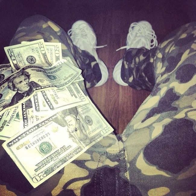 WHITE FOAMS AND MY CAMOS Cash Flow  DOPE Camouflage