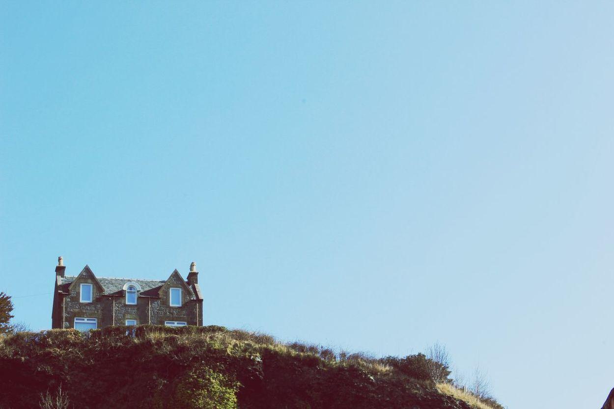 House On The Hill Oban Scotland Sky Showcase March EyeEm Best Shots EyeEm Best Shots - Landscape Skyline Landscapes With WhiteWall Blue Wave