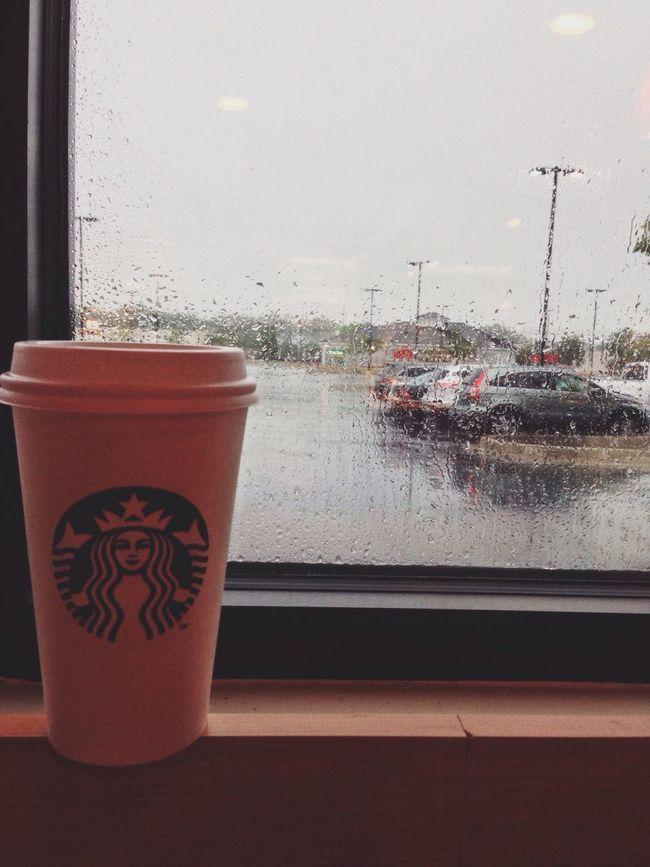 Rain Starbucks Coffee