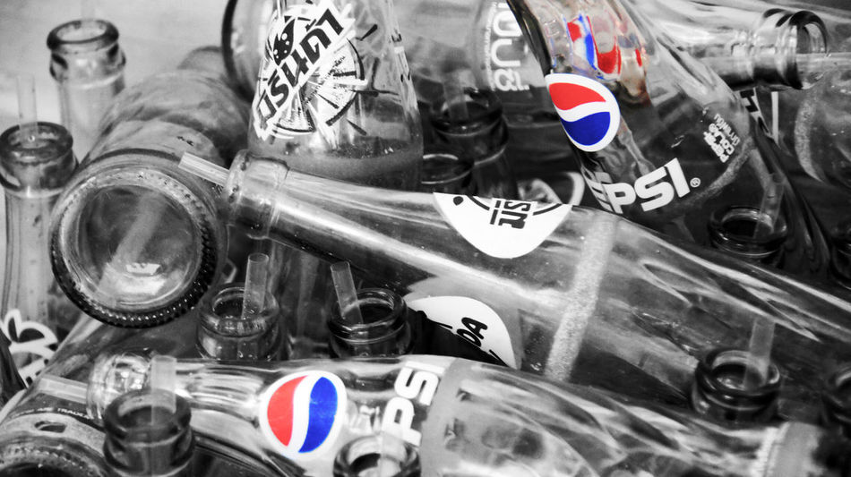 ASIA Black And White Black And White And Color Boat Life Coke Bottle Glass No People Pepsi Recycle Soda Thai Thailand Travel Photography