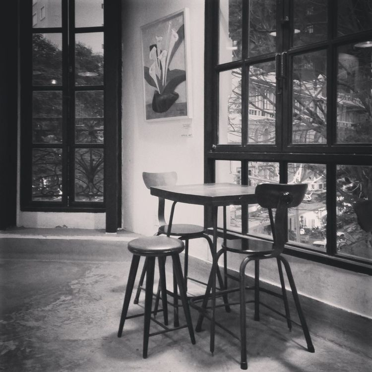 Indoors  Window Chair Table No People Architecture Bymyfone Frommyview Built Structure Building Exterior Coffeeshop Theworkshop Hochiminh Hochiminh City