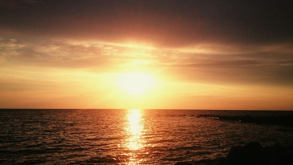 Sunset Själsö Hamn Gotland