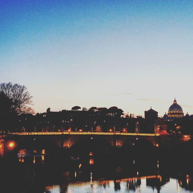 Cities At Night Dark Darkness And Light Darkcity Taking Photos Walking Around Outside Picture Romebynight Rome View Rome Bythebridge Show