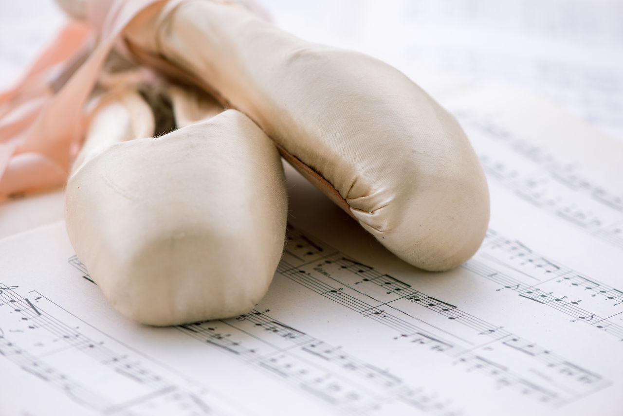 Art Ballet Shoes Classical Music Close-up Dance Dance Photography Elegance Everywhere Grace Lieblingsteil Music Brings Us Together Music Score No People Passion Pink Pointe Shoes